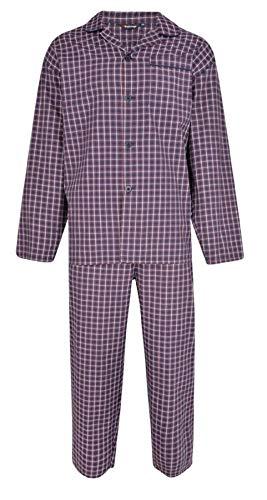 Espionage - Pijama largo con botones grandes para hombre, talla grande morado 6XL (pecho 160/168 cm)