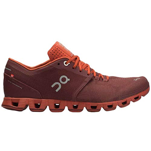 On Running Mens Cloud X Mesh Sienna Rust Trainers 8.5 US