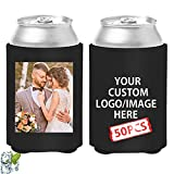 🍻Free Customized,Add any own Digital Photo, Text ,LOGO to this this funny personalized Can Cooler,Great for wedding favors, birthday favors, school events, graduation,birthday parties family gatherings and more! 🍻Branding or Design your own can holde...