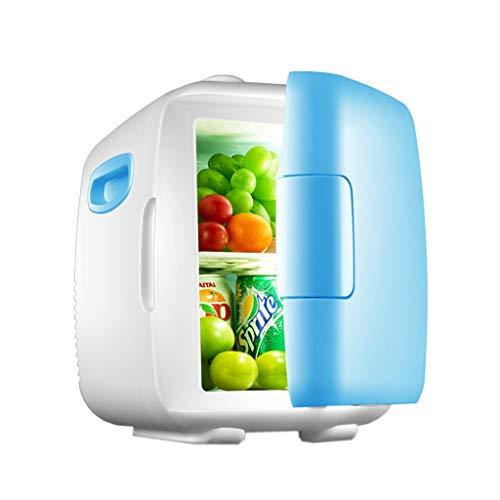 Refrigerador portátil de 8 litros, azul/rosa - Mini refrigerador Nevera eléctrica eléctrica...