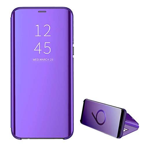 kompatibel iPhone 7/8 & iPhone 7 Plus / 8 Plus Hülle neueste Mirror Case Spiegel Schutzhülle PU Leder Flip Handy Case Clear View Standing Cover für iPhone 7 Plus / 8 Plus (i7/i8, Purple)