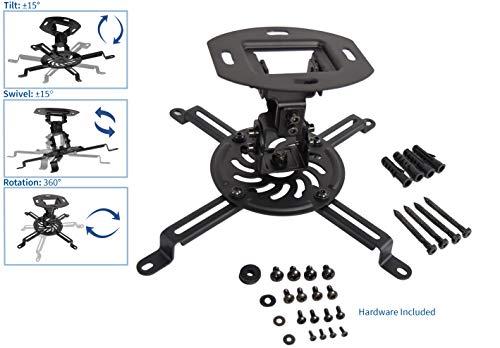 VIVO Universal Adjustable Ceiling Projector, Projection Mount Extending Arms, Black, MOUNT-VP01B Photo #3