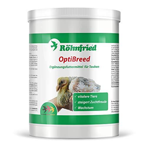 Röhnfried OptiBreed 1 Kg | Premiumaufzucht für Rassetauben | für vitalere Tiere, bessere Befruchtung und normales Wachstum