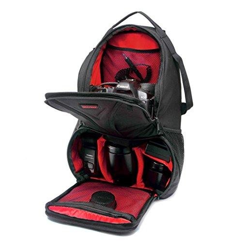 XY-QXZB Zaino messaggero da macchina fotografica, borsa da macchina fotografica impermeabile per grandi spazi per grandi spazi per Canon e altre fotocamere reflex , Red