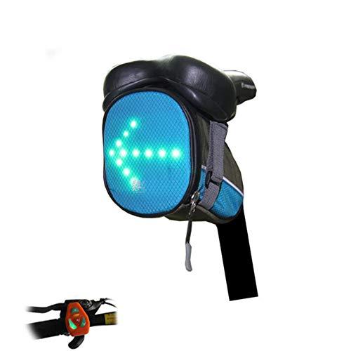 Jiurui Señal De Giro De Bicicleta, Luz De Freno De Bolsa Trasera Impermeable, con Indicador De Señal LED, Mantenga Una Distancia Segura Durante La Conducción Nocturna