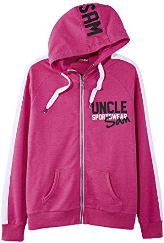 Uncle Sam Damen Kapuzenjacke Sweatjacke 'Sportswear' (pink, Gr. S 36/38)