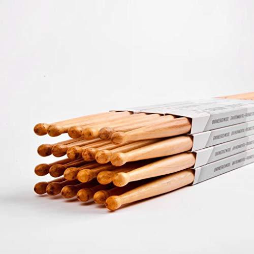 Baquetas para 24 baquetas de tambor (12 pares) Baqueta de tambor neutro a granel Baqueta de tambor de azufaifa de hierro 5b Baqueta de tambor profesional 7A Tambor de tambor Martillo de madera dura