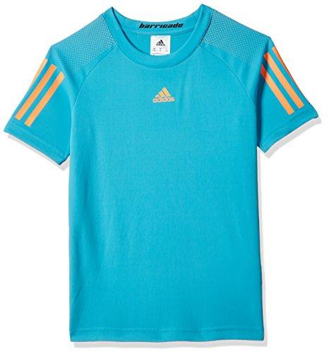 adidas Jungen Barricade T-Shirt, Samba Blue/Glow Orange, 140