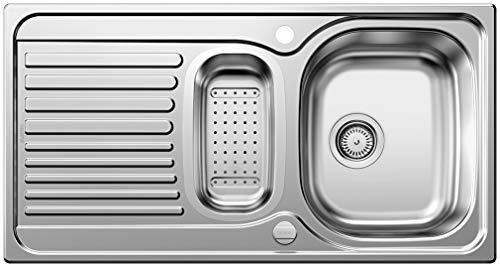 Blanco Toga 6 S Basic Küchenspüle, Edelstahl Naturfinish, inkl. Resteschale, 512639