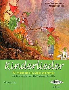 KINDERLIEDER - arrangiert für Violoncello - (für ein bis zwei Instrumente) - Klavier [Noten / Sheetmusic] Komponist: TERZIBASCHITSCH ANNE + SEITH MAGDALENE
