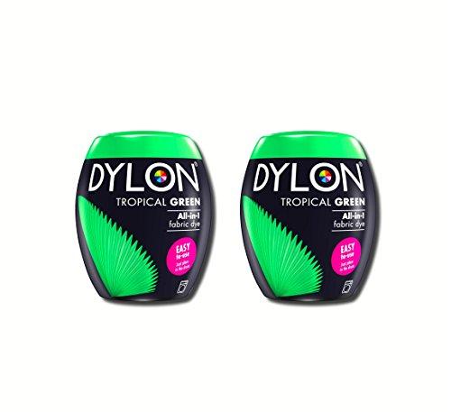 Neue Dylon 350g Tropisches Grün Maschinenfarbstoff Aushülsen 2 Pack