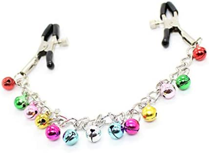Milisten Nipple Clip with Colorful Bells Non Piercing Nipple Rings Nipple Clamps Sex Nipple product image