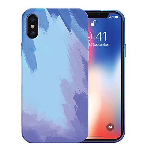 Funda para iPhone X, Funda para iPhone XS - [Anti-choques, Antideslizante, Ultrafino] Carcasa Silicona líquida iPhone X/XS con TPU Suave Adecuado (Color Nieve, iPhone X)