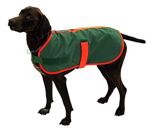 FARM-LAND Hunde Thermodecke Thermomantel mit signalorangem Einfaß (M/Stöberhunde)