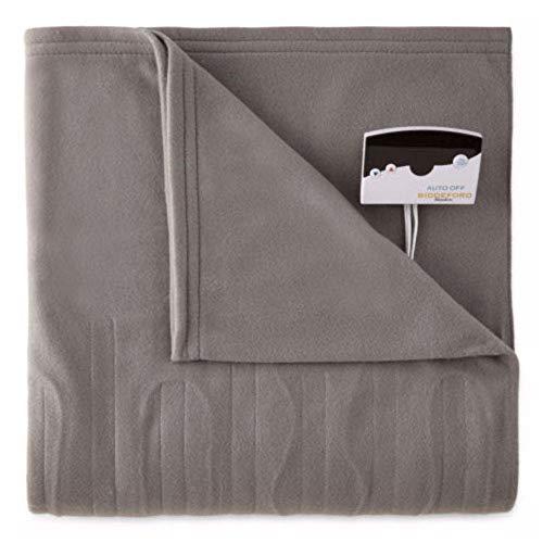 Biddeford 1001-9052106-902 Comfort Knit Fleece Electric Heated Blanket Full Grey
