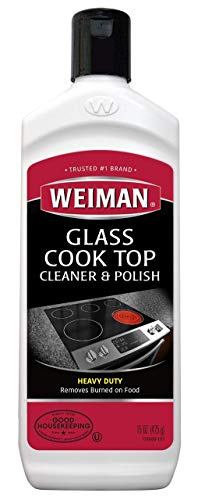 Weiman Glass Cooktop Heavy Duty Cleaner & Polish - Shines and Protects Glass/Ceramic Smooth Top Ranges with its Gentle Formula - 15 Oz. (5 Pack(15 oz))
