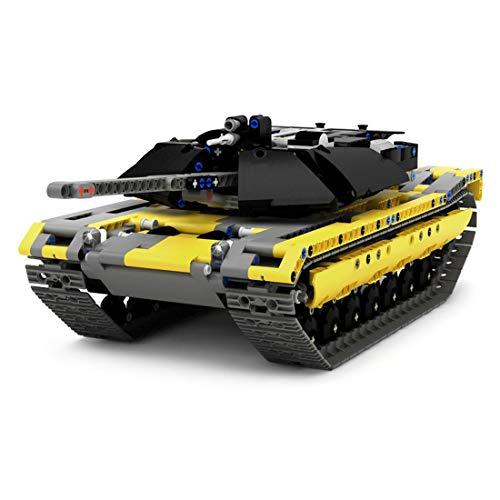 HYZM Technik Panzer Bausteine, 1270 Teiles Ferngesteuert M1 Abrams Panzer mit Motoren Militär Tank Konstruktionsspielzeug - Kompatibel mit großen Marken Baustein