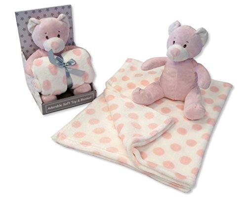 Bébé Filles doux Ours en peluche Iblanket – Livré dans une boîte cadeau de