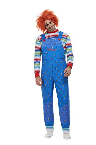 Smiffys 50265XL - Disfraz de Chucky con licencia oficial, para hombre, talla XL, 116,8-121,9 cm