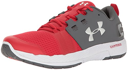 Under Armour Men's Commit TR Training Shoes (11.5 D(M) US, Rhino Gray/Red)