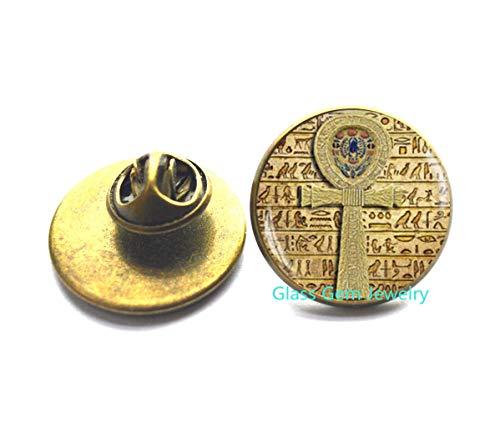 Broche de cruz egipcia de Anj, pin egipcio, joyería antigua