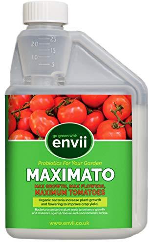 Envii Maximato – Fertilizante Orgánico para Tomates. Mejora el Crecimiento de la Planta el y Calidad del Cultivo – 500 ml