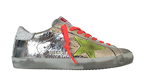 Golden Goose Scarpe Sneakers Uomo Vintage Superstar F000342.80304 Argento (Numeric_43)