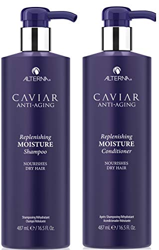 Caviar Anti-Aging Replenishing Moisture Shampoo and Conditioner Set, 16.5-Ounce (Packaging May Vary)