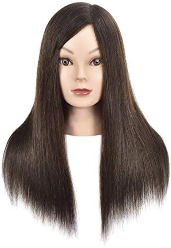 Mannequins de couture reglable Formation Chef des Salons de Coiffure des Cheveux Exercice Head Parage Mold Maquillage Modélisation d'apprentissage Dummy Black Head Mannequin Porte vêtement Mannequin