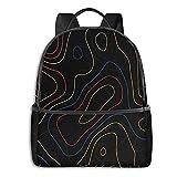 fepeng line Mochila para niñas y niños Viaje Durable Casual Adolescentes Bookbag 15' Laptop College Daypack Mujeres Hombres, Negro, Talla única