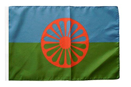 Flagge / Fahne Sinti und Roma + gratis Sticker, Flaggenfritze®