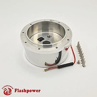 Flashpower Steering Wheel Adapter Boss Kit 9 Bolt For 1969-94 American motors Cadillac Chevrolet Ididit Column Polished