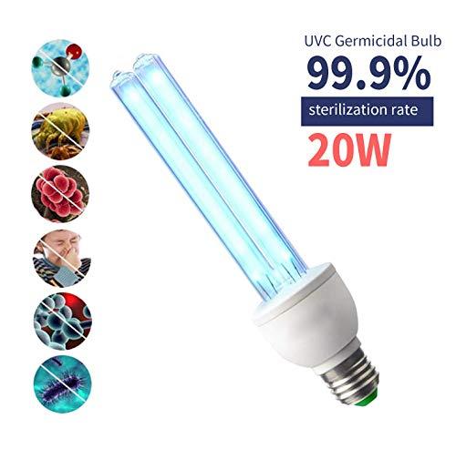 Lampadina sterilizzatore UV E26 / E27 con attacco a vite Lampadina germicida UVC con ozono (20 W)