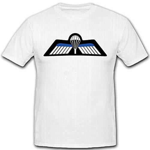 Niederländisches Springerabzeichen Holland Sportabzeichen Militär Flügel 2012 2011 Teuge Nationaal Paracentrum Teuge- T Shirt #3242, Größe:XXL, Farbe:Weiß