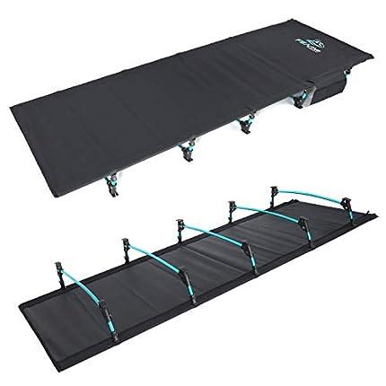 FE Active Cama Plegable Compacta - Cama de Camping Portátil Ultraligera Fuerte y Resistente. Cómoda para Adultos y Niños. Ideal para Acampar. Se Adapta al Colchón de Aire | Diseñado en California