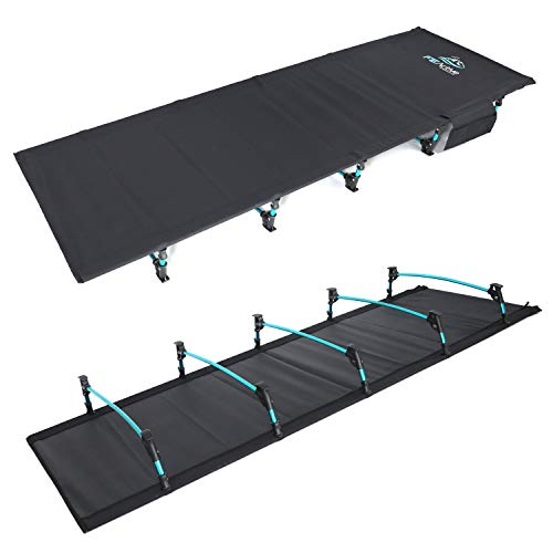 FE Active Lit Pliant Compact - Lit de Camp Portable Ultra léger Solide et Durable. Confortable pour Adultes et Enfants. Idéal pour Le Camping, s'adapte au Matelas Gonflable | Conçu en Californie