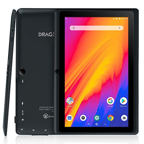 Dragon Touch 7 inch Tablet, Android 9.0 Pie, Quad-Core Processor, 2GB RAM 16GB Storage, 7 inch IPS HD Display, Dual Camera, Wi-Fi Only, Black