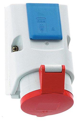 Bals Elektrotechnik 1010 Steckdose Blau, Rot, Weiß - Steckdosen (3P+N+PE, 6 h, Blau, Rot, Weiß, Polyamid, IP44, 16 A)
