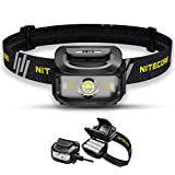 Nitecore NU35 Stirnlampe LED Wiederaufladbar - Dual Power Hybrid - LED 460 Lumen - IP66 Wasserdicht/Stirnlampe Rotlicht ([ SCHWARZ ])