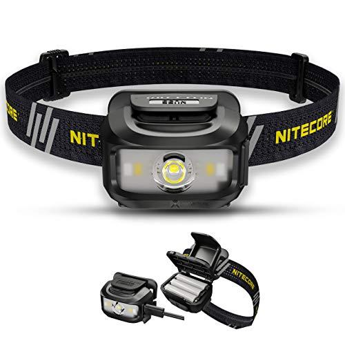 Nitecore NU35 Linterna Frontal Recargable - Híbrido De Doble Potencia - LED 460 Lumenes - IP66 Impermeable/Linterna Frontal Luz Roja ([ Negro ])