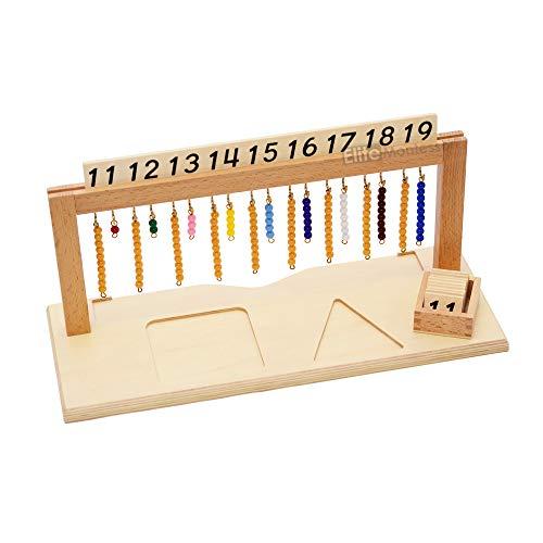 Elite Montessori Teen Bead Hanger with Beads Preschool Learning Material