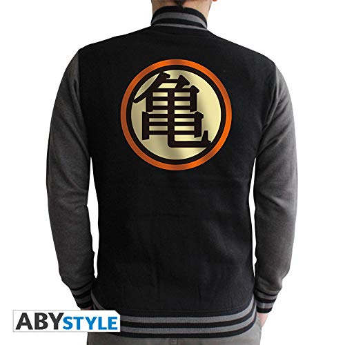 Dragon Ball Kame Hombres chaqueta Colegio del símbolo del logotipo gris negro
