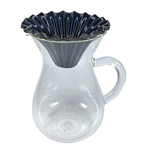 KINTO キントー SLOW COFFEE STYLE コーヒーカラフェ 600ml & ドリッパー L(4杯用) (deep blue)