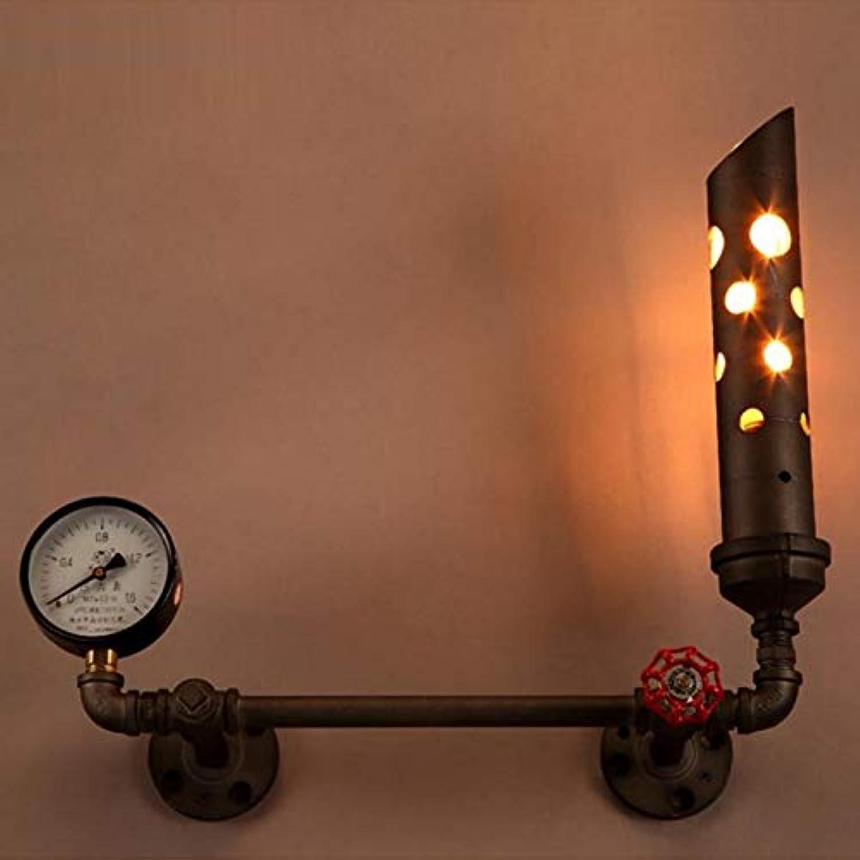 Retro Style Plumbing Wall Lamp Bar Coffee Shop Wall-mounted Lamp Bedroom Restaurant Indoor Studio Lighting