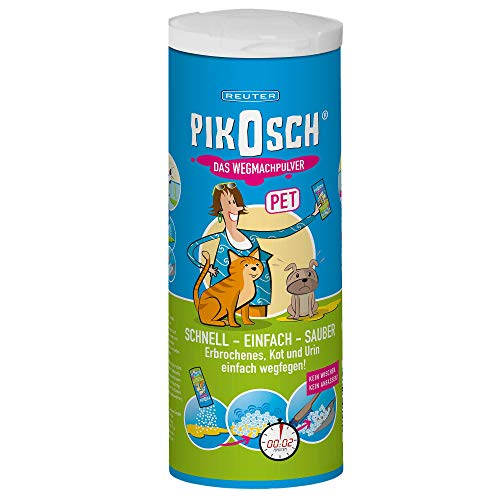 PIKOSCH PET Spezialreiniger - Flüssigkeitsabsorber - Das Kotz Pulver zur ekelfreien Beseitigung der von Urin, Erbrochenem usw.
