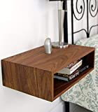 Floating Nightstand in Solid Walnut