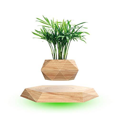 XIMIN Schwebender Luft Bonsai Topf Pflanzer, 360 Grad Rotation Blumentopf, Luft schwimmend Spinnen Magnetische Schwebe Suspension Schwimmender Pflanzentopf Für Haus Garten Dekor