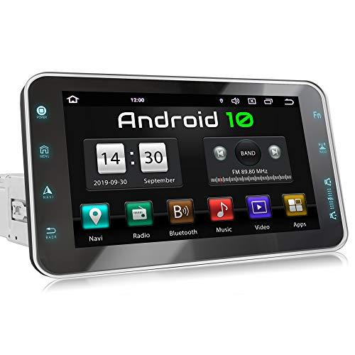 XOMAX XM-VA801 Autoradio con Android 10 I Quad Core, 2GB RAM, 32GB ROM I Navigatore GPS I Supporto WIFI, 4G, DAB, OBD2 I Bluetooth I Touch Screen 8   I USB, SD, RDS I 1 DIN