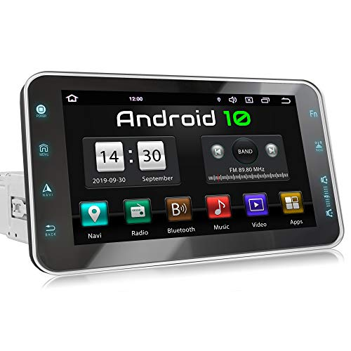 XOMAX XM-VA801 Autoradio con Android 10 I Quad Core, 2GB RAM, 32GB ROM I Navigatore GPS I Supporto WIFI, 4G, DAB, OBD2 I Bluetooth I Touch Screen 8'' I USB, SD, RDS I 1 DIN