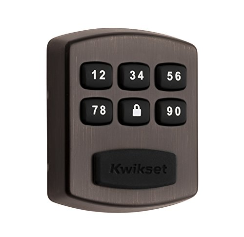 Kwikset 99050-004 Model 905 Value Lock Keyless Entry Electronic Keypad Deadbolt for Garage or Side Door, Venetian Bronze